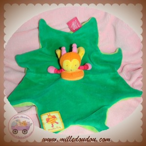 MOULIN ROTY SOS DOUDOU ABEILLE LOUNA PLAT VERT ETOILE ORANGE ETIQ ROSE