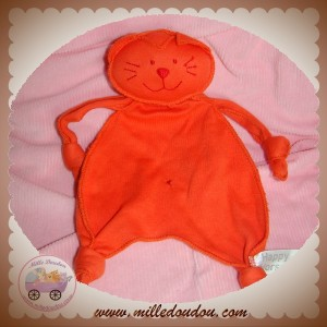 HAPPY HORSE SOS DOUDOU CHAT PLAT ORANGE NOEUD