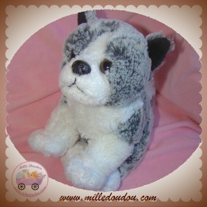 SOFT FRIENDS SOS DOUDOU CHIEN GRIS CHINE BLANC
