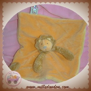 MOULIN ROTY SOS DOUDOU LION LES ZAZOUS PLAT ORANGE ATTACHE TETINE