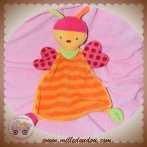 BABYSUN BABY SUN SOS DOUDOU PAPILLON COCCINELLE PLAT ORANGE ROSE