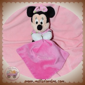 DISNEY NICOTOY SOS DOUDOU MINNIE SOURIS ASSIS MOUCHOIR ROSE FLUORESCENT