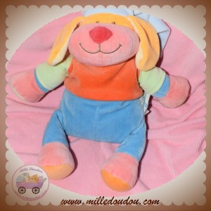 DOODOO BABIAGE SOS DOUDOU CHIEN BLEU ORANGE ROSE