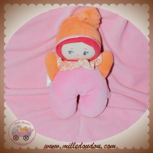 COROLLE SOS DOUDOU POUPEE HOCHET ROSE ORANGE