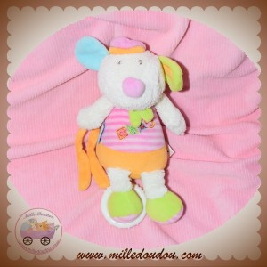 BABYSUN BABY SUN DOUDOU CHIEN SOURIS ECRU AHOY ROSE ORANGE MUSICAL
