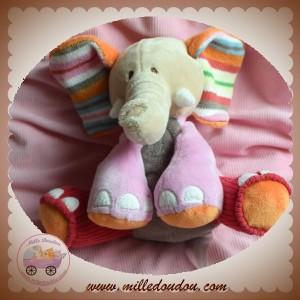 HAPPY HORSE SOS DOUDOU ELEPHANT BEIGE GRIS ROSE LAINE