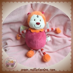 CARREBLANC SOS DOUDOU COCCINELLE ORANGE VIOLET ROSE