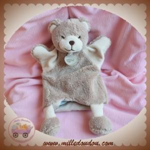 BABYNAT BABY NAT SOS DOUDOU OURS MARRON MARIONNETTE MICROFIBRE