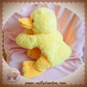 SOS DOUDOU CANARD JAUNE ORANGE ALLONGE TOUT MOU