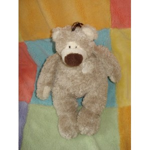 DIMPEL SOS DOUDOU PELUCHE OURS TAUPE STYLE BALOO