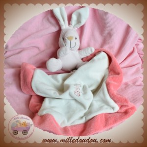 PLAYKIDS BY CMI SOS DOUDOU LAPIN ROSE MOUCHOIR BLANC