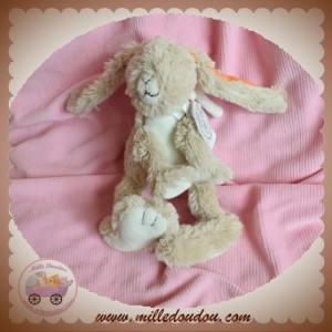 HAPPY HORSE SOS DOUDOU LAPIN BEIGE ORANGE 20 cm
