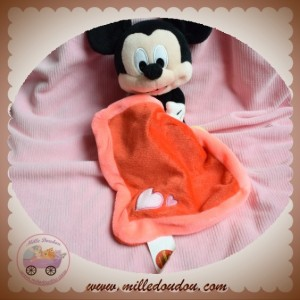 PTS DISNEY SOS DOUDOU MICKEY  NOIR ROUGE MOUCHOIR  COEUR ROSE TOMMY TOYS