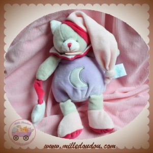 BABYNAT BABY NAT SOS DOUDOU CHAT OURS GRIS VIOLET ROSE FLUORESCENT LUNE