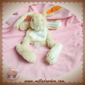 HAPPY HORSE SOS DOUDOU LAPIN BEIGE PLAT ORANGE