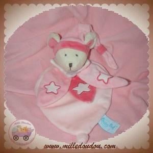 BABYNAT BABY NAT SOS DOUDOU SOURIS PLAT ROSE FLUORESCENT ETOILE
