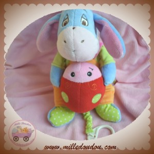 DISNEY SOS DOUDOU ANE BOURRIQUET SALOPETTE ORANGE MUSICAL COCCINELLE