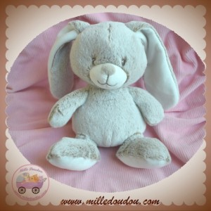 TEX SOS DOUDOU LAPIN CHINE BLANC MARRON ASSIS
