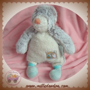 MOULIN ROTY SOS DOUDOU OURS CHINE ECRU DIABOLO BISCOTTE POMPON