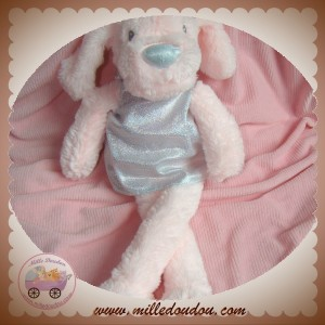 PRIMARK EARLY DAYS SOS DOUDOU CHIEN ROSE ROBE ARGENT GRIS