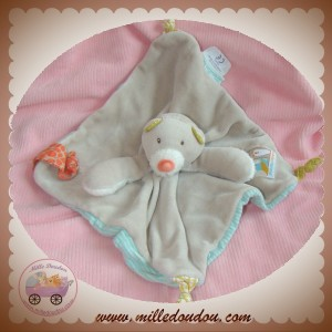 MOULIN ROTY SOS DOUDOU OURS PLAT TAUPE BISCOTTE POMPON ATTACHE TETINE