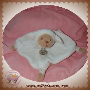BABYNAT BABY NAT SOS DOUDOU MOUTON BLANC PLAT BEIGE