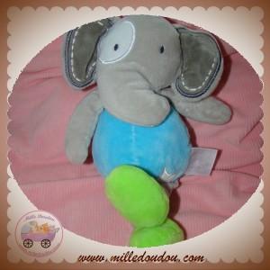 CMP SOS DOUDOU ELEPHANT GRIS CORPS BLEU ETOILE FLUORESCENT