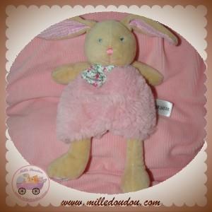 BABYNAT BABY NAT SOS DOUDOU LAPIN POUPI ROSE FLEURS
