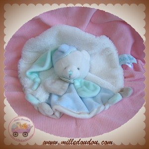 BABYNAT BABY NAT SOS DOUDOU OURS PLAT ROND BLANC LAYETTE