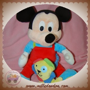 DISNEY SOS DOUDOU MICKEY SOURIS SALOPETTE ROUGE MUSICAL LION
