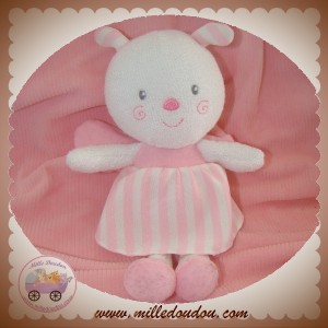 LUMINOU SOS DOUDOU PAPILLON FLUORESCENT ROBE ROSE