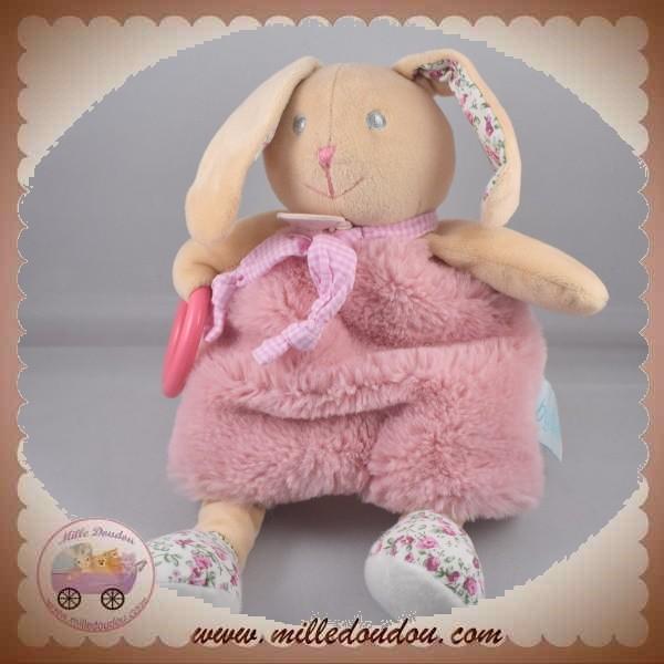 Baby nat/' Poupi Doudou Forme Lapin Rose