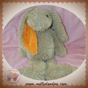 HAPPY HORSE SOS DOUDOU LAPIN BEIGE ORANGE PETIT POIL
