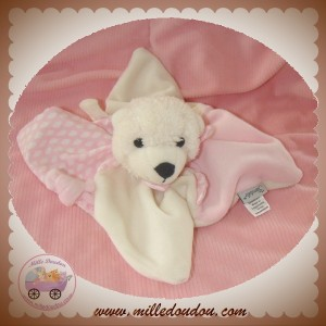STERNALER SOS DOUDOU OURS BLANC ROSE NUAGE