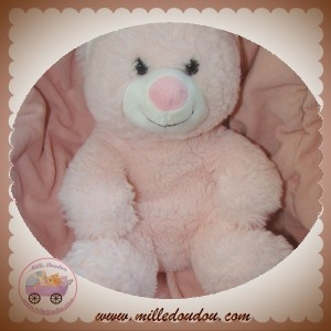 GIPSY SOS DOUDOU OURS BOUCLETTE ROSE 28 CM