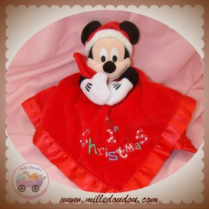 DISNEY SOS DOUDOU MICKEY MOUSE MOUCHOIR ROUGE CHRISTMAS