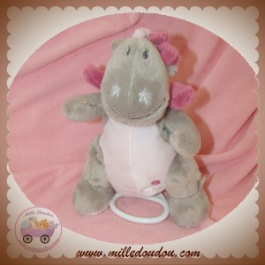 NOUKIE'S SOS DOUDOU DRAGON VICTORIA GRIS ROSE MUSICAL
