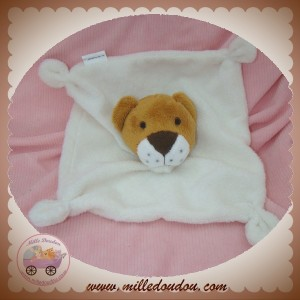 FORCES VIVES SOS DOUDOU LION MARRON PLAT ECRU