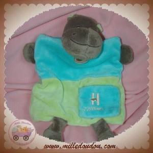 BABYNAT BABY NAT SOS DOUDOU HIPPOPOTAME VERT MARIONNETTE H COMME