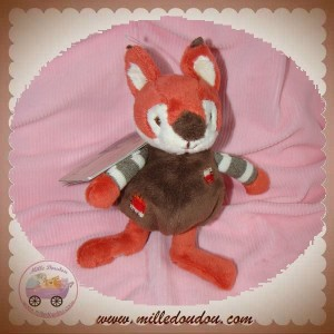BUKOWSKI SWEDEN SOS DOUDOU RENARD JUMPY ORANGE MARRON 15 CM