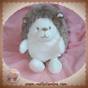 TEX SOS DOUDOU HERISSON BLANC MARRON CHINE 18 cm