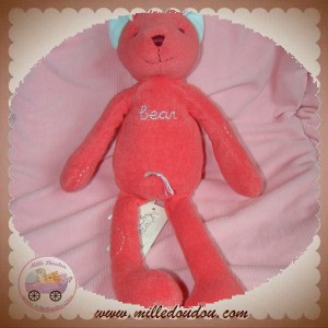 HAPPY HORSE SOS DOUDOU OURS ROUGE ROSE BEAR BIE GIES