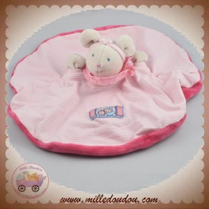 MOULIN ROTY SOS DOUDOU SOURIS GRISE LILA PATACHON PLAT OVAL ROSE RAYE