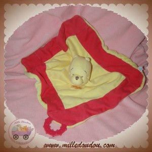 DISNEY SOS DOUDOU OURS WINNIE L'OURSON PLAT JAUNE ROSE DENTITION