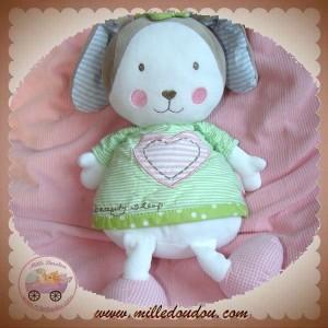 BABYSUN SOS DOUDOU LAPIN BLANC BEIGE ROBE VERTE BEAUTY SLEEP
