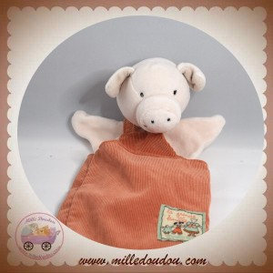 MOULIN ROTY SOS DOUDOU COCHON MARIONNETTE ROBE ORANGE