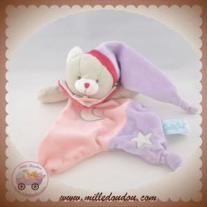 BABYNAT BABY NAT SOS DOUDOU CHAT GRIS PLAT ROSE FLUORESCENT ETOILE
