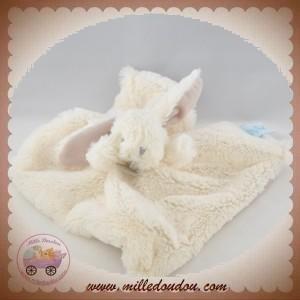 BABYNAT BABY NAT SOS DOUDOU LAPIN PLAT BLANC TAUPE BN051