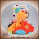 BABYSUN BABY SUN SOS DOUDOU ELEPHANT SAFARI PLAT ORANGE ROUGE FLEUR