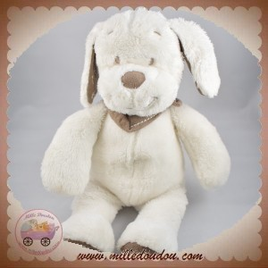 INFLUX SOS DOUDOU CHIEN BLANC FOULARD TAUPE